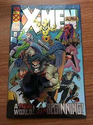 X-Men: Alpha #1 - Age of Apocalypse - NM - Marvel Comics (1995) / Chromium Cover