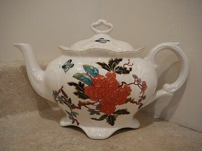 James Kent China Porcelain Eastern Glory Teapot Old Foley Butterfly Lotus