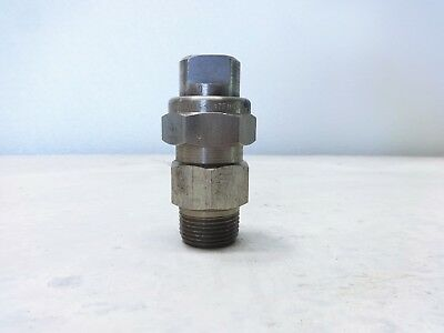 "Spraying Systems 3/4"" Stainless TeeJet UniJet Spray Nozzle 3/4TT-SS+65100L-SS"