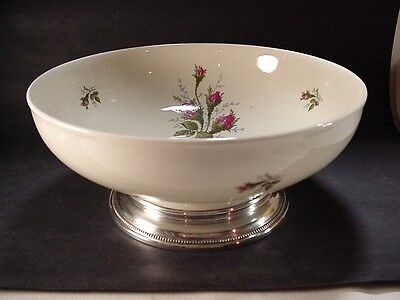 "R. C. Rosenthal, Germany, ""AIDA"" Porcelain Salad Bowl w Sterling Base 9-1/2"""