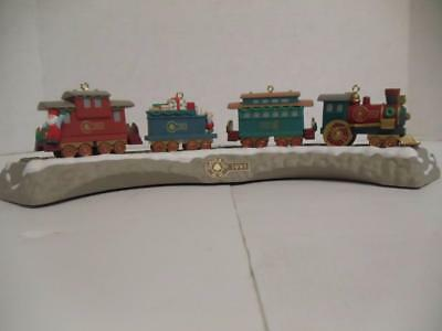 Hallmark Keepsake Ornaments 1991 Claus & Co R.R. Railroad Complete Train Set MIB