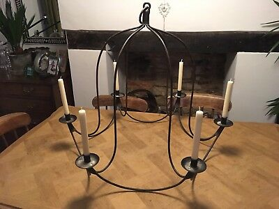 Wrought Iron candle chandelier