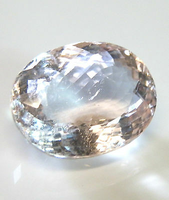 Large natural earth-mined Morganite (pink aqua)...oval cut ...13.9 carat