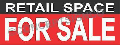 4'X10' RETAIL SPACE FOR SALE BANNER Outdoor Sign XL Real Estate Property Realtor