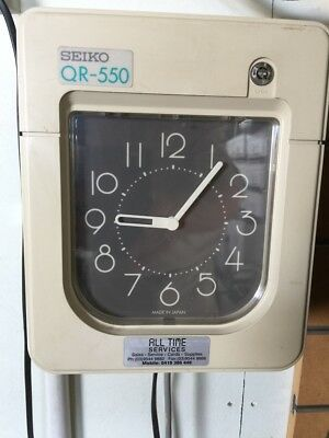SEIKO time card clock (Clock Attendance Time Recorder)