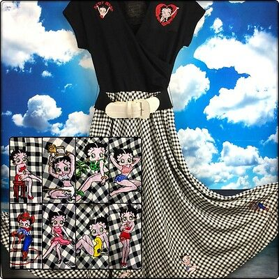Vintage Betty Boop Dress Rockabilly Pin-Up VLV CosPlay Theatrical Embroidered S
