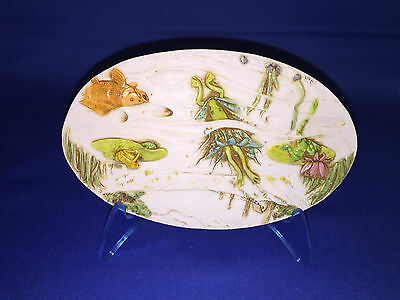 MATES ACROSS THE POND byNEIL EYRE DESIGNS 2006 PINK FLOWER frogs