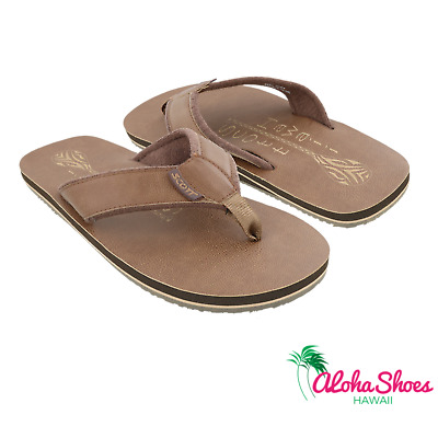 Scott Hawaii Men's Pahoe Brown Sandal with Paddle Design ~ Free Shipping & NWT