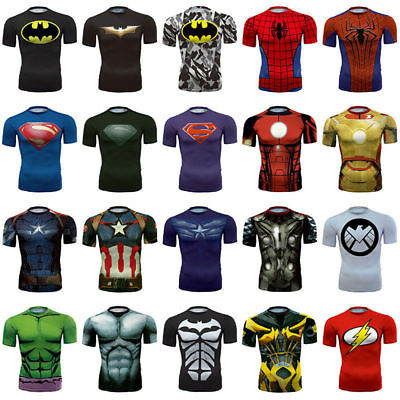 Men s 3D Comics Superhero Costume T-Shirts Short Long Sports Top Cycling  Jersey e344952ceca