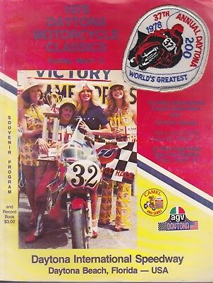 1978 Daytona Motorcycle Classics Patch and Program