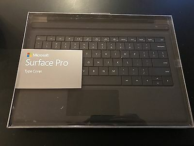 NEW - Genuine Microsoft Type Cover BLACK for Surface Pro 3 - Backlit keys