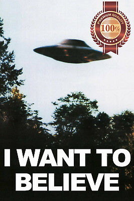 New I Want To Believe X-Files Ufo Photo Original Tv Show Print Premium Poster