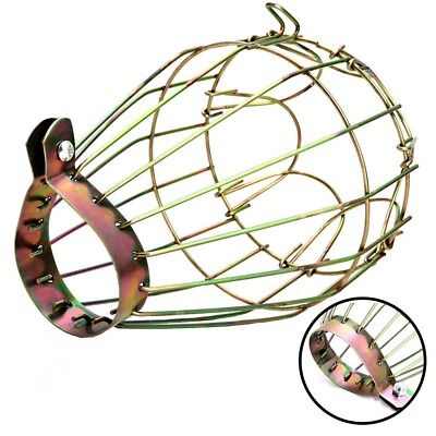 Vintage Metal Iron Wire Bulb Cage Pendant Lamp Guard Shade For Lights Industrial