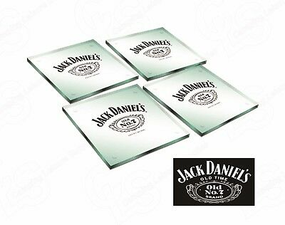 Jack Daniel's branded Glass Coasters  OLD No. 7