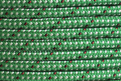 Dyneema Core w Polyester Cover 8mm X 100 metres - 2,000Kg BL - Endura Green