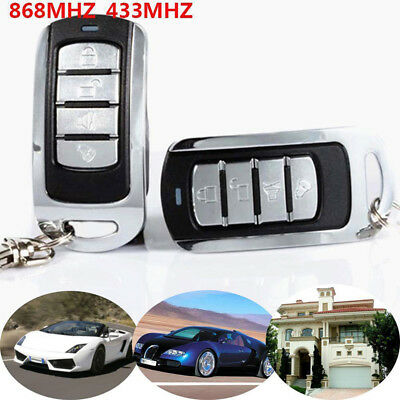 Cloning Remote Control Key Fob 433/868Mhz Universal Car Garage Door Gate CB Key