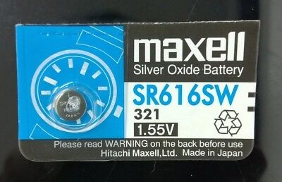 1 Piece Maxell SR616SW/321Botton Cell Battery - Free Shipping
