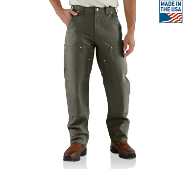 NEW Carhartt #B01Firm Duck Double-Front Work Dungaree Pants MSRP $49.99 MOSS NWT