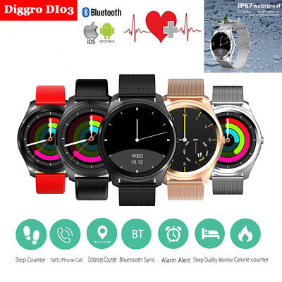 Diggro DI03 Bluetooth Siri Smart Watch IP67 Heart Rate Monitor for Android & IOS
