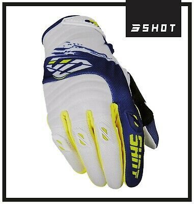 Shot Clearance Contact Fast Blue Yellow Motocross Enduro Off Road Race Gloves