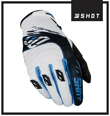 Shot Clearance Contact Fast Blue Motocross Enduro Mx Off Road Race Gloves