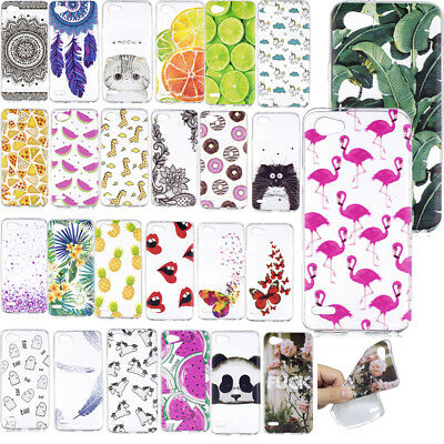 Ultra Thin Patterned Clear Soft Gel Rubber Silicone Case Cover For LG Q6 G6 Mini