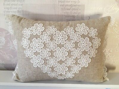TU Heart Shabby Chic Pillow - Only A Couple Of Months Old