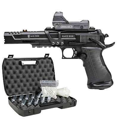 Elite Force Race Gun Vollmetall Softair-Co2-Pistole 6 mm BB Blowback > 0,5 (P18)