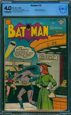 Batman # 79  The Bride of Batman !  CBCS 4.0 scarce Golden Age book !