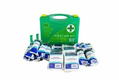 2 x HSE Compliant PREMIUM 10 Person Easy Access First Aid Kit with wall bracket