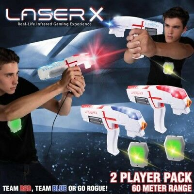LASER X Ultimate Two Player Laser Tag Gun Game Double Pack Birthday Christmas