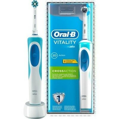 Braun Oral-B Vitality CrossAction Electric Rechargeable Power Toothbrush EU PLUG