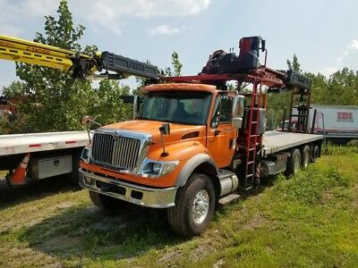 2006 Fassi F390SE on International 7600 with 91' tip height ROOFING-TREES-FDTNS