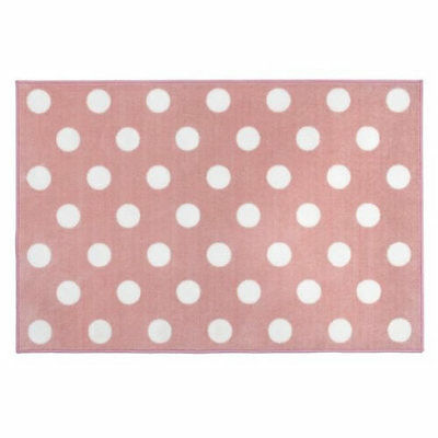 Brand new in bag Kit for kids nursery rug in Pink with white spots 100x150 cm