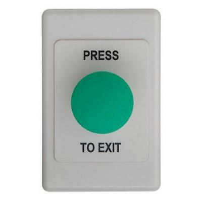 NEW ACSS EXIT BUTTON MUSHROOM GREEN w/ 2000 SERIES GANG PLATE