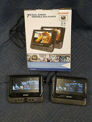 NEW Car Portable DVD Player Dual Screen Headrest Built In Speakers Wide Screen