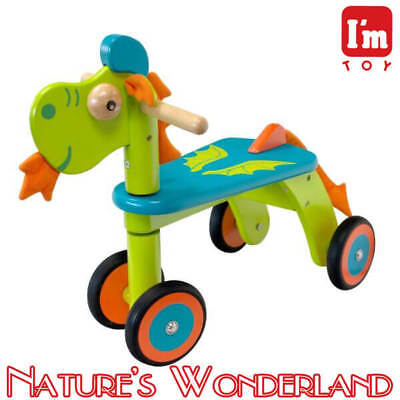 DRAGON Rider, Child Safe Paints Ride-on Style Push Trike I'm Toy Eco rubber wood
