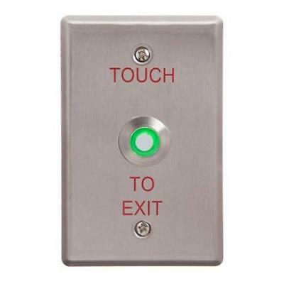New Acss Touch To Exit Button Illuminated Green Wide
