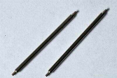 2 x 33mm Watch spring Bars/Pins.1.8mm Thick. Single Shoulder. Strong. SWISS. P5