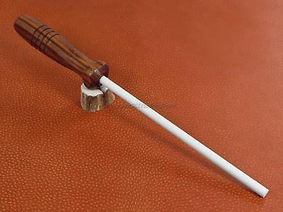 Arkansas Ceramic Rod Knife Sharpener Stick Walnut Wood Handle Made in USA AC48