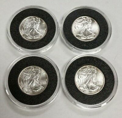 4 pc Lot Money Metals Exchange Walking Liberty 1/10 oz 999 Fine Silver Rounds