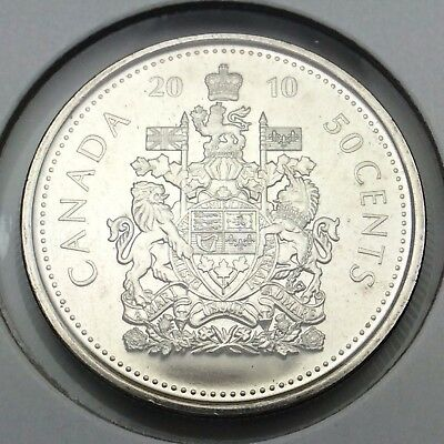 2010 Canada Fifty Cents Half Dollar Canadian Uncirculated Coin Not In Case C406