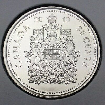 2010 Canada Fifty Cents Half Dollar Canadian Uncirculated Coin Not In Case C411