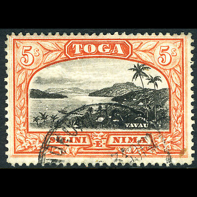TONGA 1897 5s Black & Red Brown. SG 53a. Fine Used. (AR437)