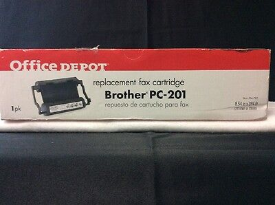 OFFICE DEPOT BROTHER Replacement Fax Cartridge PC-201 New In Box