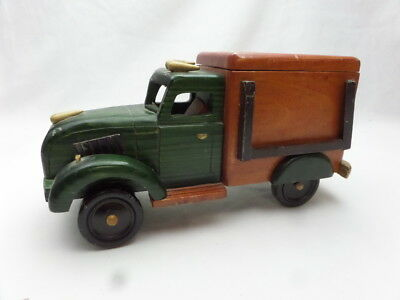 Vintage Wooden Green Back opening Truck Pick Up