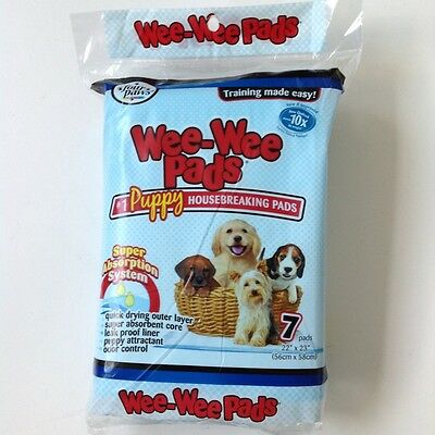 "Four Paws Wee Wee Puppy Dog Housebreaking Training Pads 7 pack 22"" x 23"""