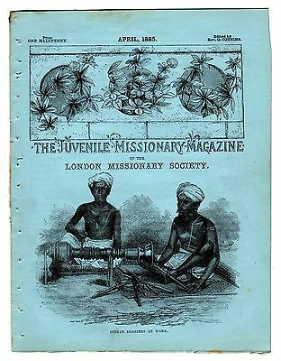 The Juvenile Missionary Magazine – April 1885 – Indian Braziers