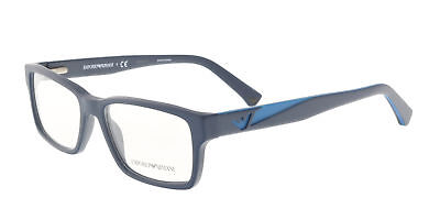 Emporio Armani EA3087 5504 52 Navy  Rectangle Optical Frames