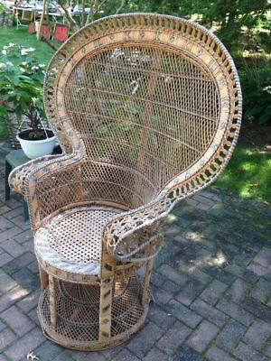 Fancy Peacock Chair Wicker